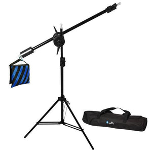 Photo Studio Overhead Boom Light Stand Kit with Counter Weight Saddle Bag, Carry Case, AGG668