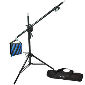 Boom Lighting Support Stand for Photo Video Studio, Heavy Duty Photography Pro Boom Set with Light Stand and Boom, Sand Bag, AGG671