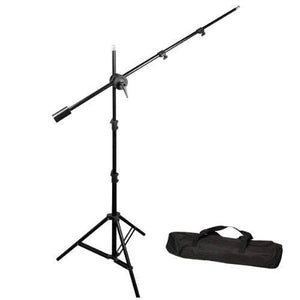 Photo Video Studio 750W Premium Continuous Lighting Kit, (2) x Black/Silver Photo Umbrella Reflector, (1) x Photography Overhead Boom Light Kit, AGG685