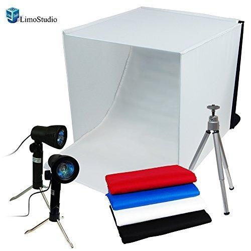 Light Tent Kit Table Top Photography Lighting Kit Perfect Daylight Kit Fluorescent Bulb, AGG691