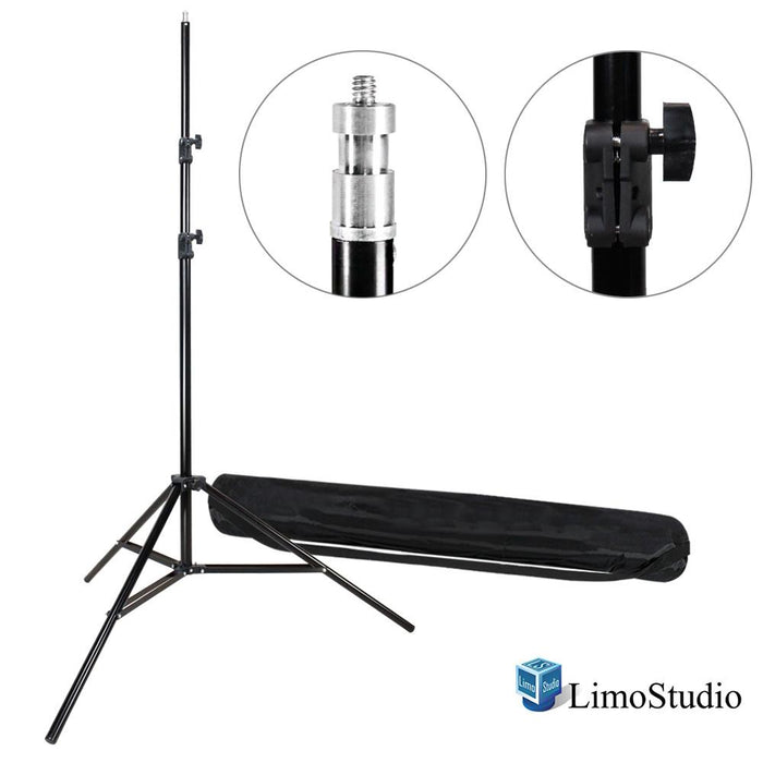 "Photography Studio Quality Heavy Duty 86"" Tall Light Stand Tripod with Carry Case Bag, Photo Studio, AGG693"