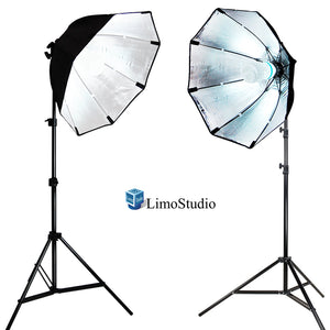 LimoStudio 2 Sets of Photography Video Studio Continuous Soft Box Lighting Light Kit with Photo CFL 6500 Bulb, Photo Studio, SRE1197