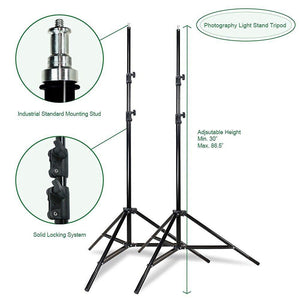 800W PHOTOGRAPHY LIGHTING STAND WITH PHOTO LIGHT BULB AND REFLECTOR, SOFT BOX WITH CARRY CASE, AGG699