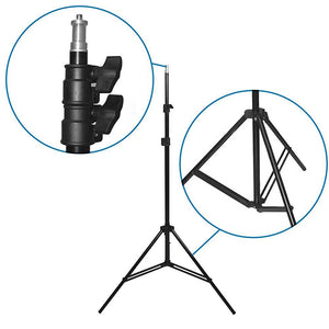 "LimoStudio [1Pack] Photography Studio Continuous 26"" Octagonal Soft Box Lighting Light Kit with Photo E26, E27 CFL 105W 6500K Bulb and Light Stand for Photo Studio and Photo/Video Shooting, SRE1034"
