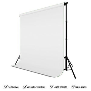 Photography Studio Backdrop Lighting Kit Set, White Black Backdrops, (2) Umbrella Reflector Studio Lighting, Backdrop Support Stand wth Carry Bag, AGG799