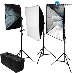 "2400Watts Photography Photo Video Studio 20"" x 28"" Softbox Lighting Light Kit with High Quality Carry Bag, AGG805"