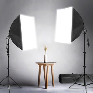 LimoStudio 700W Photo Video Studio Soft Box Lighting Kit, 20 x 28 Inch Dimension Softbox Light Reflector with Photo Bulb, Photography Studio, AGG814_V3