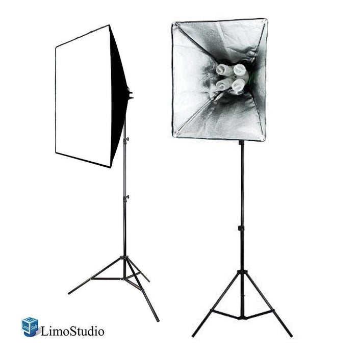 "2x 800W Photography Photo Video Studio 20"" x 28"" Softbox Lighting Continuous Light Kit, AGG815"