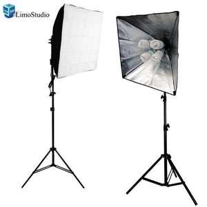 "2x 800W Photography Photo Video Studio 24"" x 24"" Softbox Lighting Continuous Light Kit, AGG816"