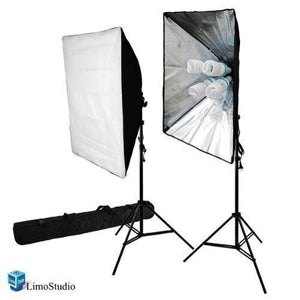 "1600Watts Photography Photo Video Studio 20"" x 28"" Softbox Lighting Continuous Light Kit with Carry Bag, AGG817V2"