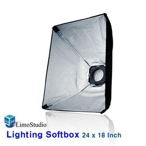"Photography Studio 24"" x 18"" Softbox Lighting Reflector with Flash Strobe Speed Ring, AGG823"