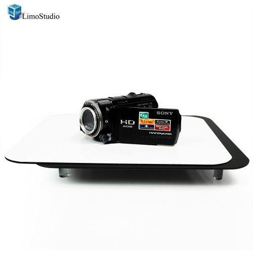 Acrylic Black & White Reflective Display Table Riser for Product Table Top Photography, AGG835