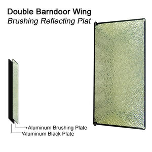 2 PCS 1100 Watt Photo Studio Digital Lighting Fluorescent 4-bank Barndoor Light Panel, AGG842