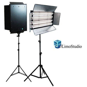 2200 Watt Photo Studio Portable Video Photography Portrait Fluorescent Light Panel with Heavy Duty Light Stand Kit, AGG843