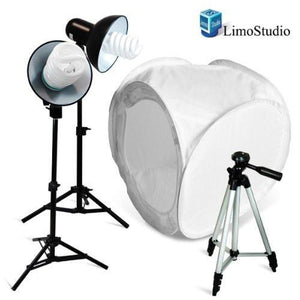 "400W Photography Table Top Photo Tent Studio Lighting Light Kit - 2 Lighting kit with 30"" Photo Softbox Tent, AGG845"