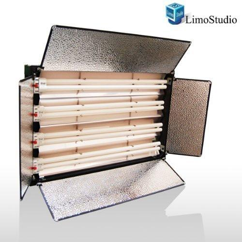 4-Bank 550W Studio Video Fluorescent Barndoor Light Panel, AGG862