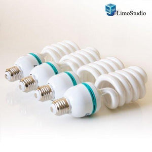 LimoStudio 45 Watt, 6500K Pure White Fluorescent Daylight Balanced Light Bulb [x4] for Photography and Video Lighting, AGG874