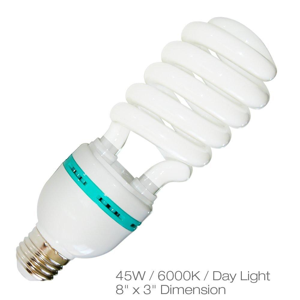 Full Spectrum Light Bulb Four 45w Photography Photo Cfl 6500k Lampu Studio 5500k Daylight Balanced Pure White Agg874