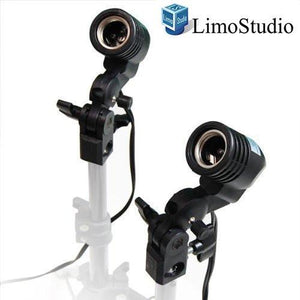 2 Pcs Photography Studio AC Socket Light Stand Mount Umbrella Holder, AGG886
