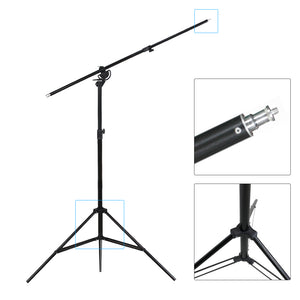 LimoStudio 10ft Two Way Tripod Boom Light Stand for Photo Photography Video Studio, SRE1249