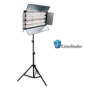 1100 Watt Photo Studio Portable Video Photography Portrait Fluorescent Light Panel with Heavy Duty Light Stand Kit, AGG896