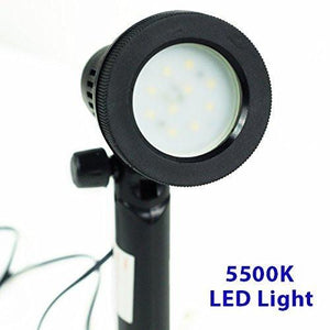 Table Top Photography Studio Continuous LED Portable Light Lamp Set With Extra 50W GU10 Halogen Light Bulb, AGG904