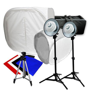 "Photography Studio 12"" and 30"" Photo Studio Tent Light Backdrop Kit in a Box Cube Table Top Lighting Set, AGG941"