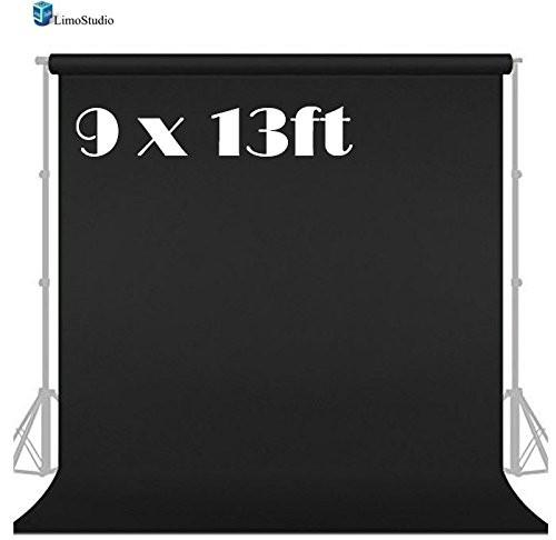 9x13ft Black Fabricated Backdrop Background Screen for Photo Video Photography Studio, AGG1854