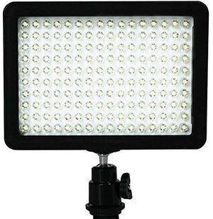 "on Camera Video Light Photo Dimmable 160 LED Ultra High Power Panel with 1/4"" Thread for Canon, Nikon, Sony and Other DSLR Cameras, SRE1113"