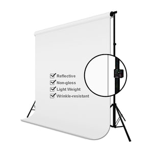 6 x 9 ft. / 1.8 x 2.8 M/White Photo Video Photography Studio Fabric 100% Pure Muslin Backdrop Background Screen, SRE1003