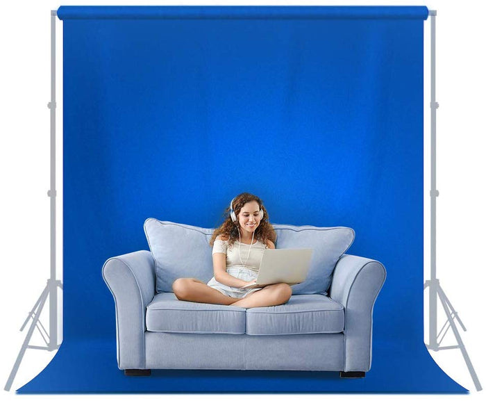 6 ft X 9 ft Blue Chromakey Fabric Backdrop Background Screen, Photo Video Studio, SRE1133