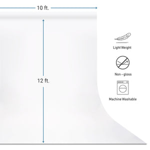 10 ft. X 12 ft. Long Life Time Reusable White Chromakey Photo Video Photography Studio Fabric Backdrop, Background Screen, Pure White Muslin, Photography Studio, SRE1036