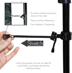 8-Piece Photo Video Studio Background and Backdrop Muslin Holder for All Types of Crossbars and Background Supports Stands, SRE1282