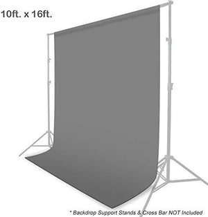 10 x 16 ft. Gray Background Screen Photo Video Studio Fabric Backdrop, Pure Gray Muslin, Photography Studio, SRE1309