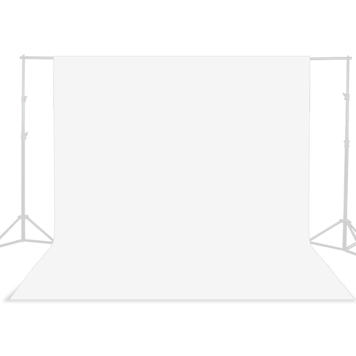 5 ft X 10 ft White Chromakey Photo Video Studio Fabric Backdrop, Background Screen, Pure White Muslin, Photography Studio, SRE1017