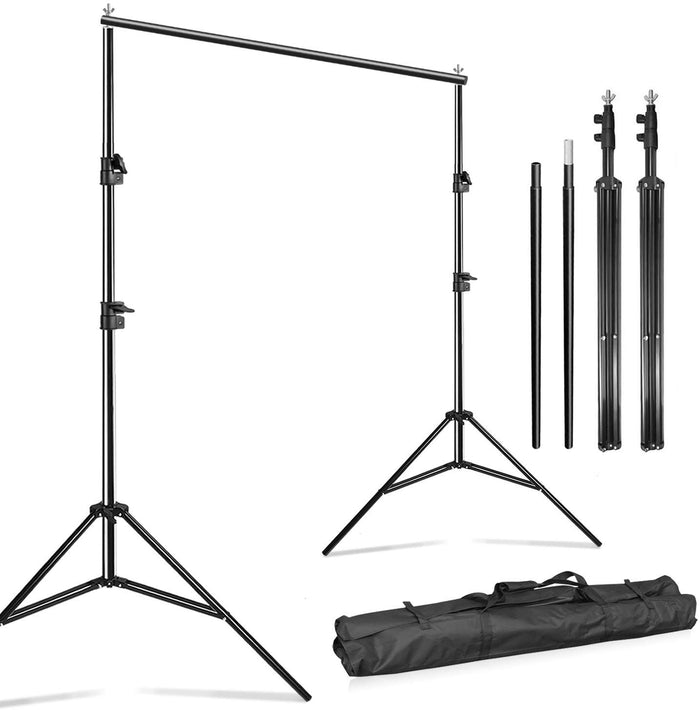 10 Feet Wide Photography Photo Muslin Background Support Stand Backdrop Crossbar Kit, Backdrop Support Stand with Carry Bag, SRE1069