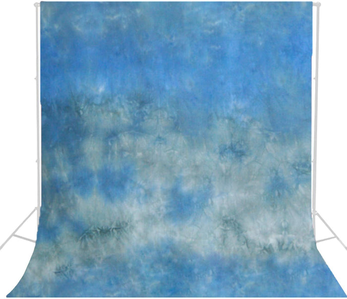 6 X 9 Ft Crushed Aqua Hand Painted Muslin Backdrop Background Screen for Photo Video Studio, SRE1165