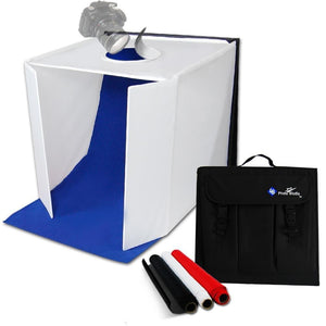 "PREMIUM PRO STUDIO TABLE TOP PHOTO STUDIO 20"" x 20"" SOFT TENT KIT WITH 800-900 LUMENS CONTINUOUS LED LIGHTS, LMP106"