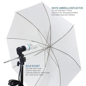 Photography Photo Portrait Studio 600W Day Light Umbrella Continuous Lighting Kit, LMS103