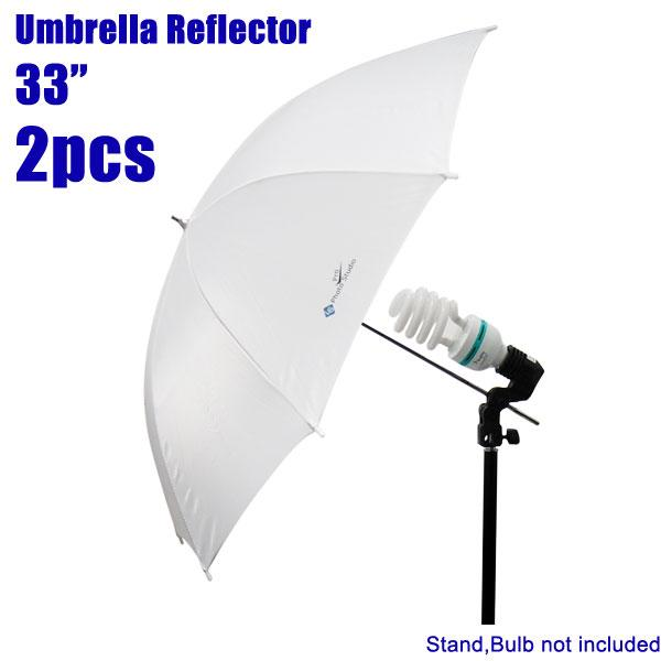 "Case of 2, 33"" Photography Photo Studio Soft White Umbrella Reflector Photo Video, LMS125"