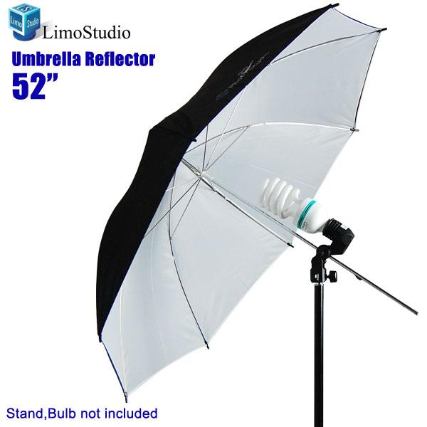 "Photography Softbox Double Layer Black and White 52"" Studio Umbrella Reflector, LMS135"