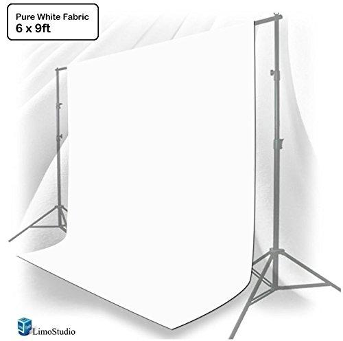 6 ft X 9 ft White Photo Video Photography Studio Fabric Backdrop Background Screen, LMS217V2