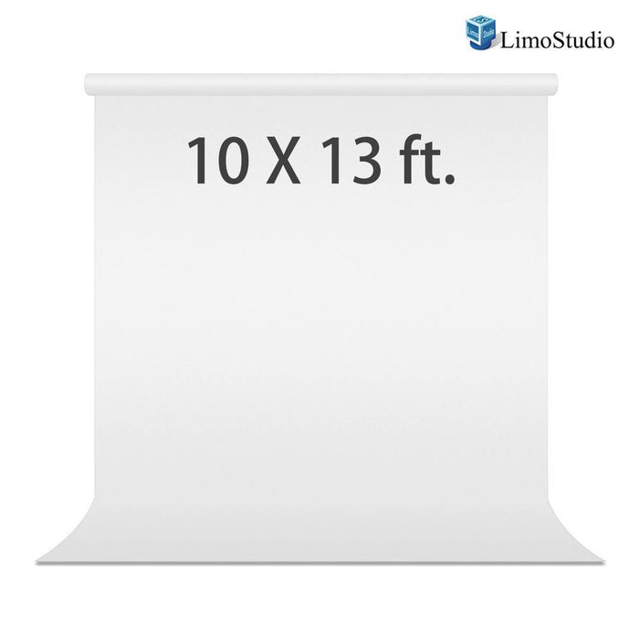 10 x 13 ft. Photo Studio White Muslin Studio Backdrop, LMS222V2