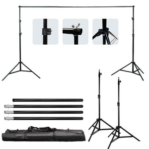 Muslin Photography White Muslin Backdrop Background Support Stand Kit, LMS264
