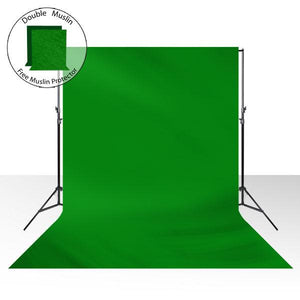 6 x 9 ft. Photography Muslin Green Chromakey Backdrop Support Stand Kit, LMS271