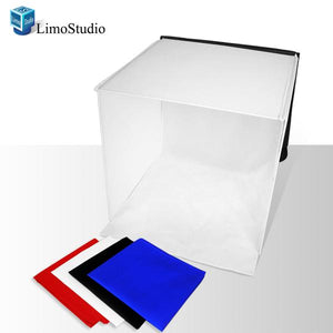 "20"" x 20"" Photo Studio Softbox Diffuser Photo Box Tent with Chromakey Background, LMS322"