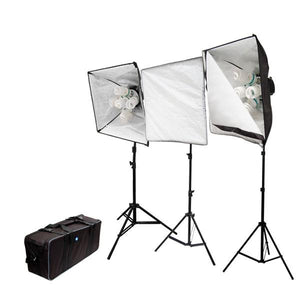 3000 Watt Photography Portable Studio Continuous Lighting Light Kit with Carrying Case, LMS386
