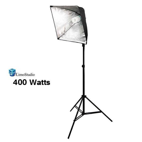 "400 Watt Photography Softbox Lightng Kit, 19"" Softbox Reflector Continuous Light Kit with 86"" Light Stand, LMS698"