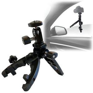 Car Window Mounting Portable Camera Clamp Tripod, Camera Mount Hardware Bracket with 1/4 inch Screw, LMS700V2