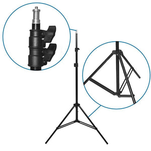 "400 Watt Photo Studio Softbox Lighting Kit, 22"" Black Silver Octagonal Soft Box Reflector Light Kit with 86"" Light Stand, LMS702"